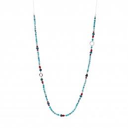 Apatite necklace with chain