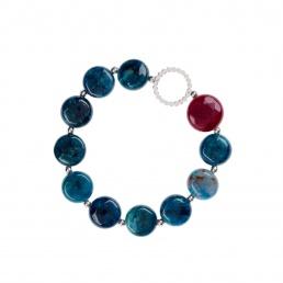 pulsera de apatito azul
