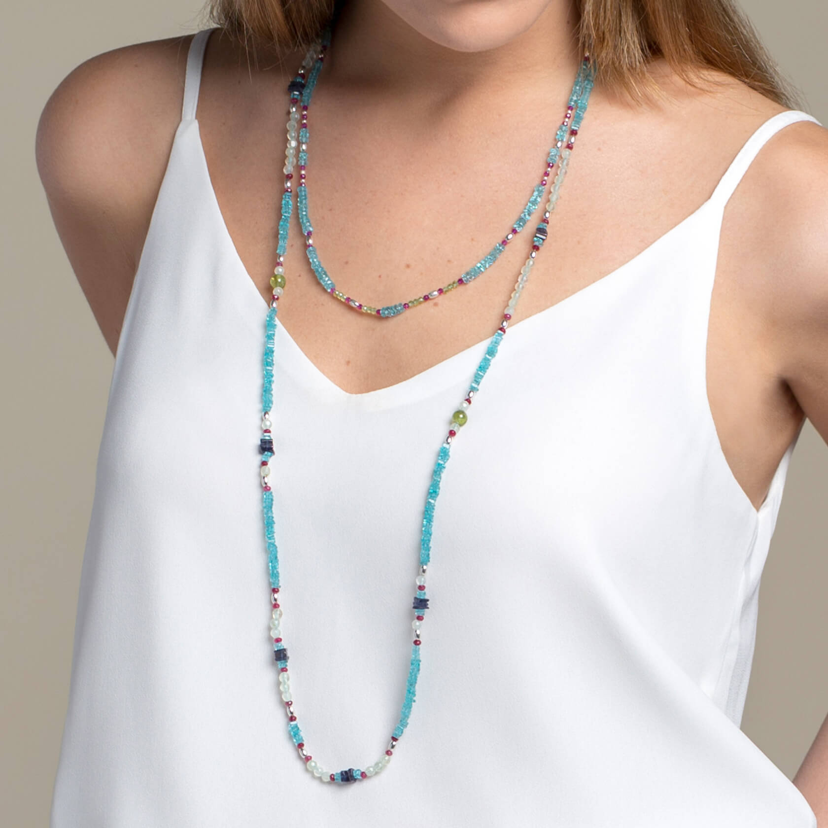 Apatite long necklace Marybola