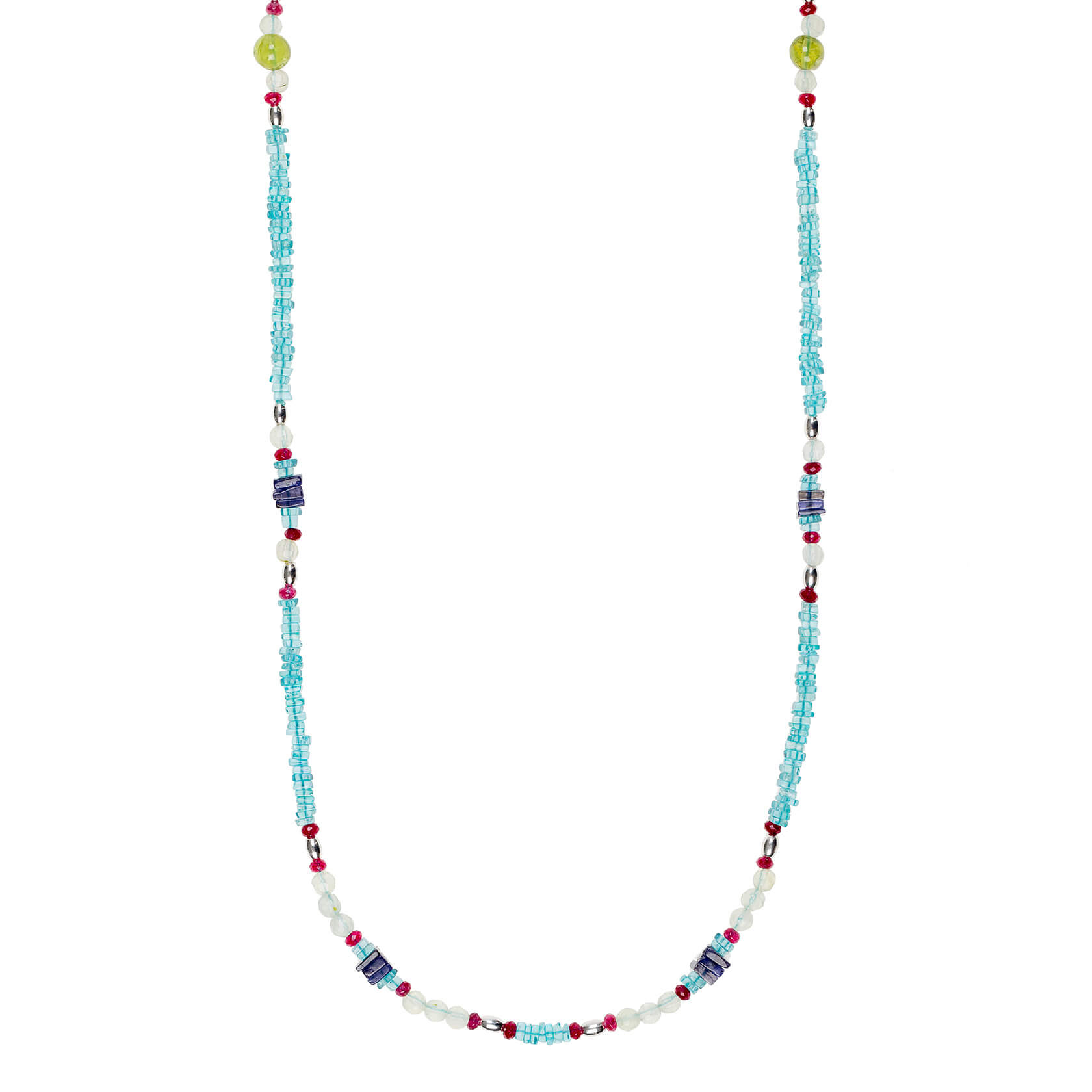 Apatite long necklace