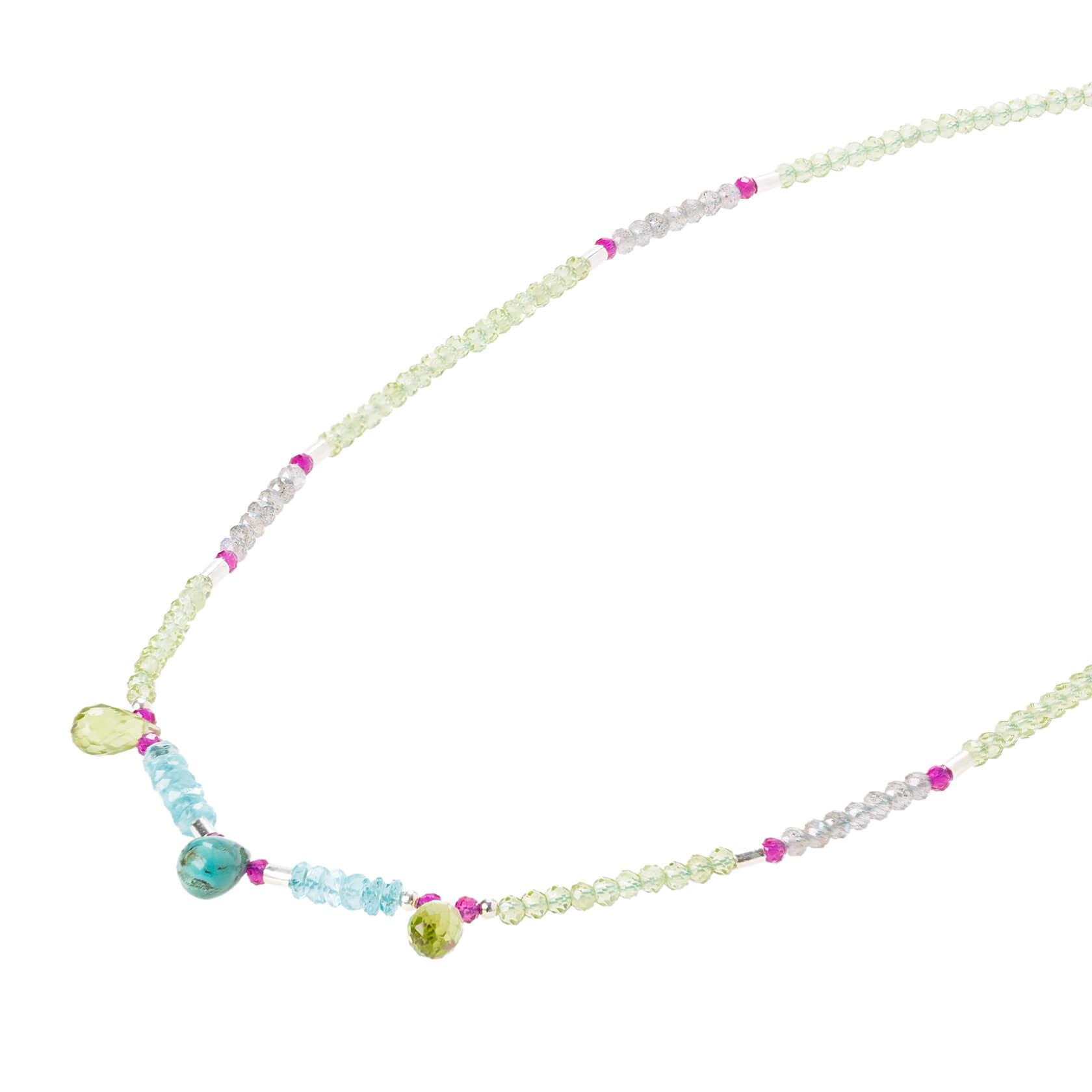 Karashi peridot short necklace