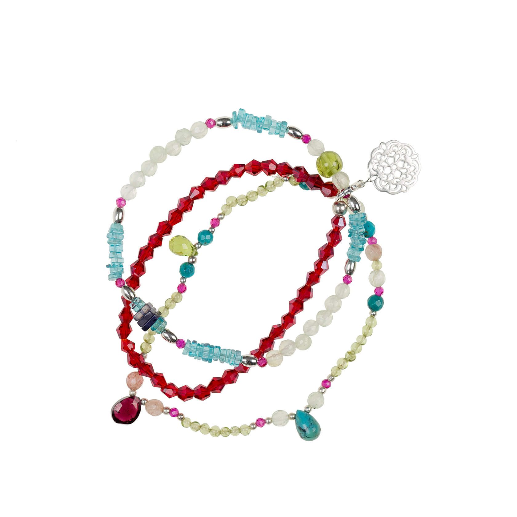 Apatite triple bracelet