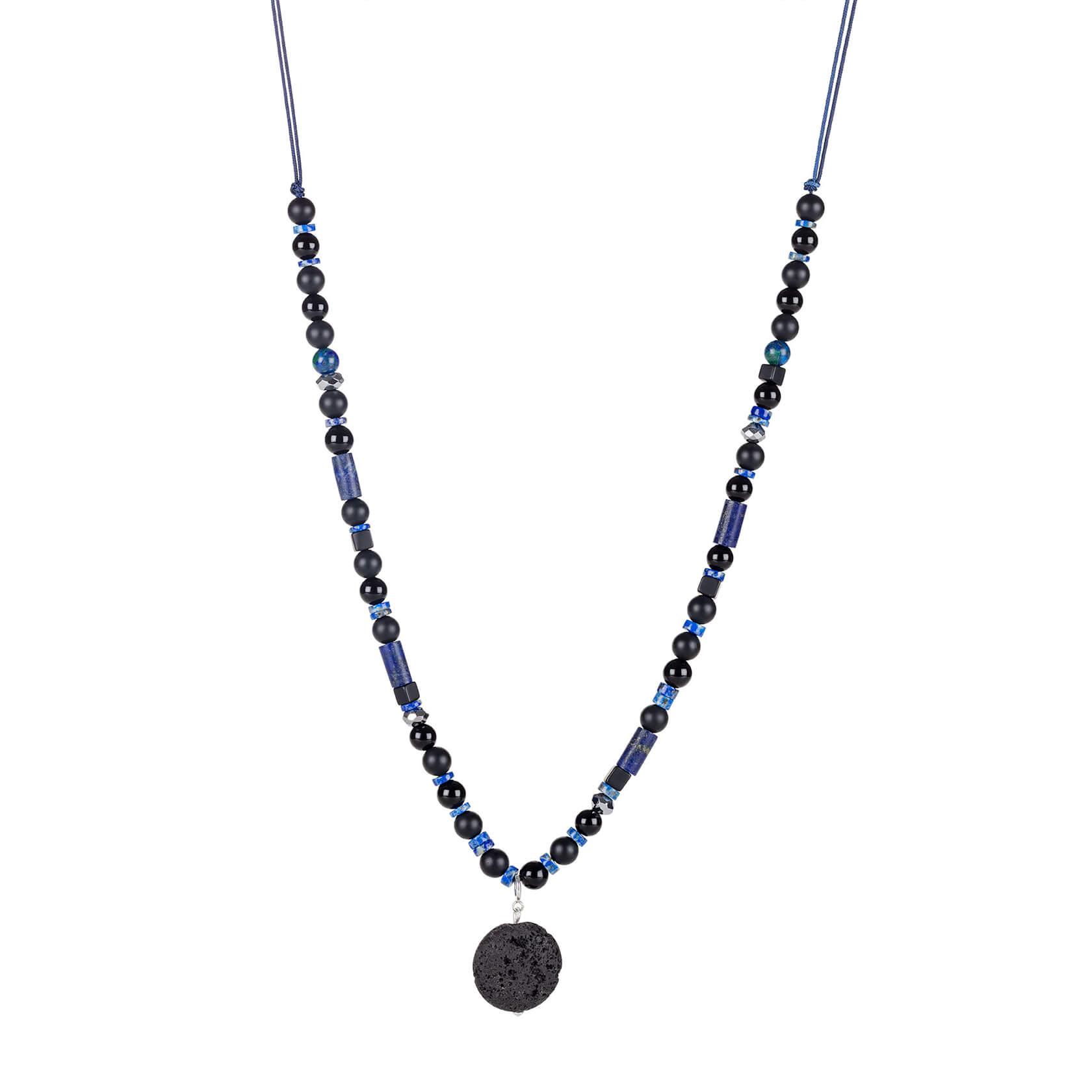 collar unisex de lapislázuli