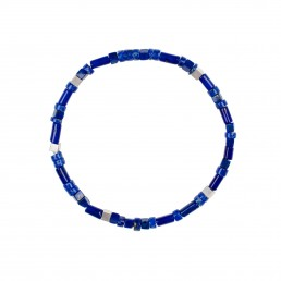 pulsera unisex de lapislázuli