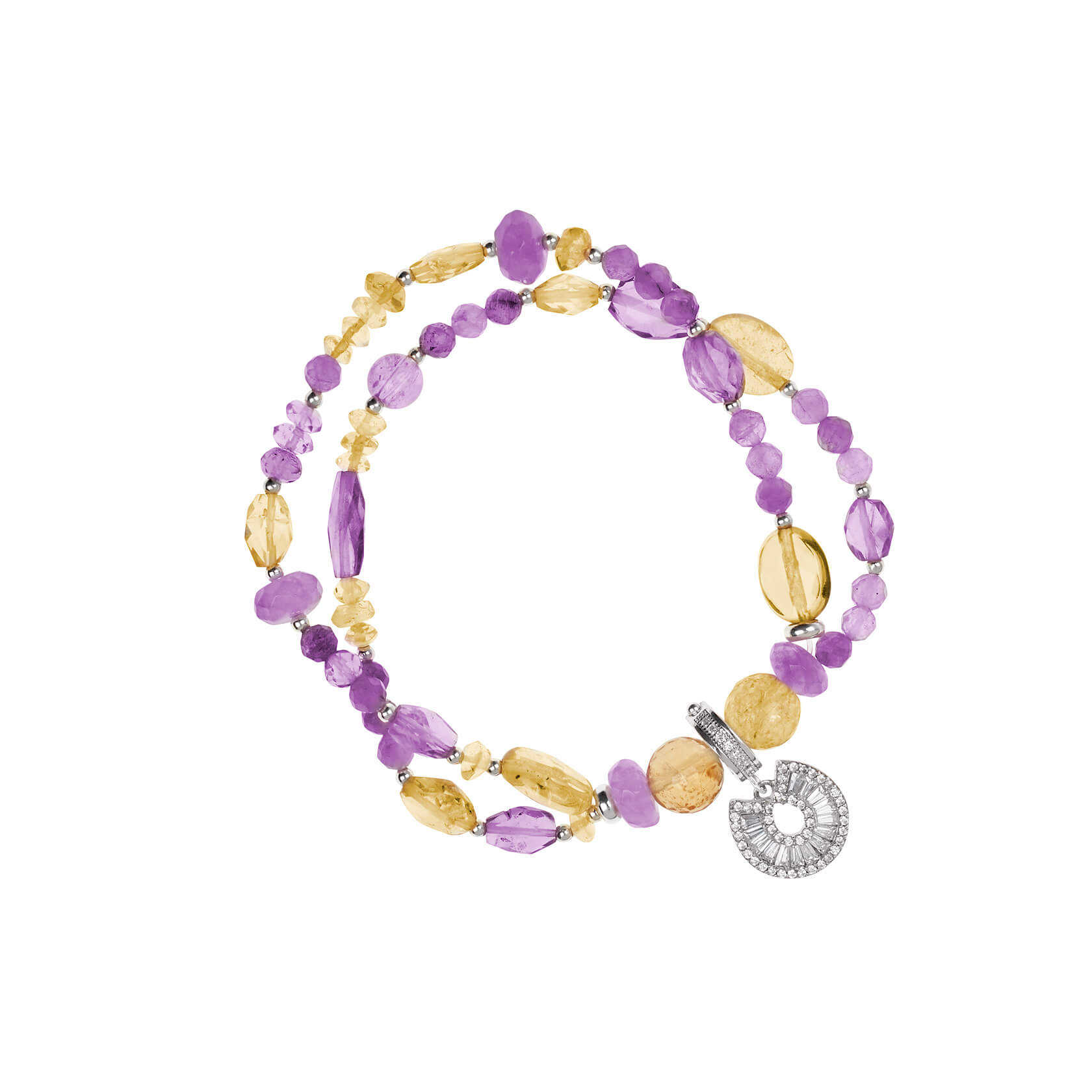 Citrine and amethyst double bracelet Marybola