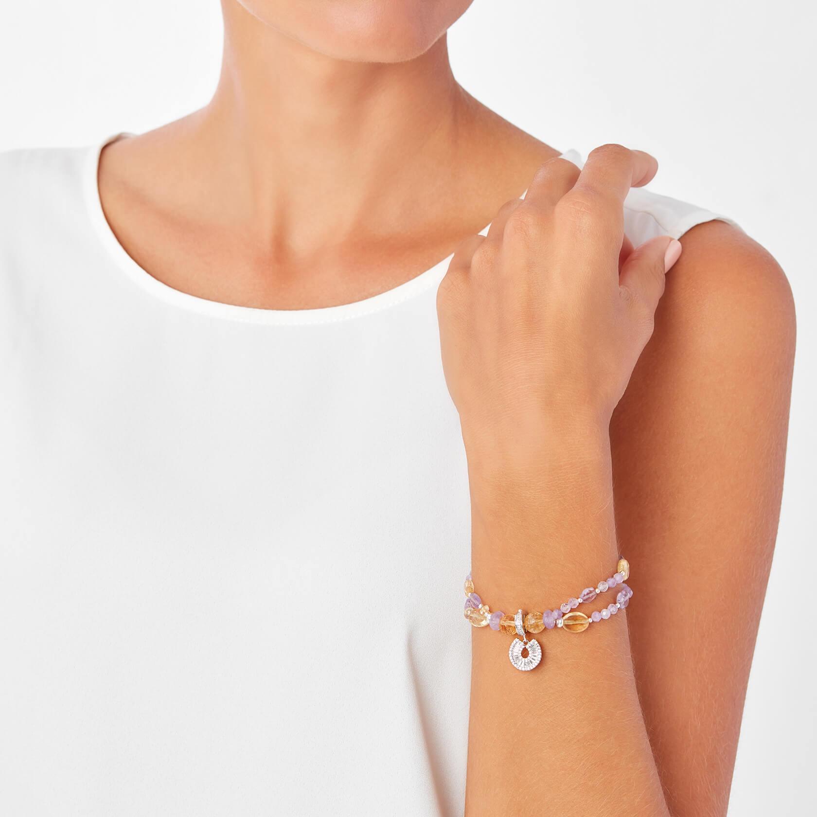 Citrine and amethyst double bracelet Sultán