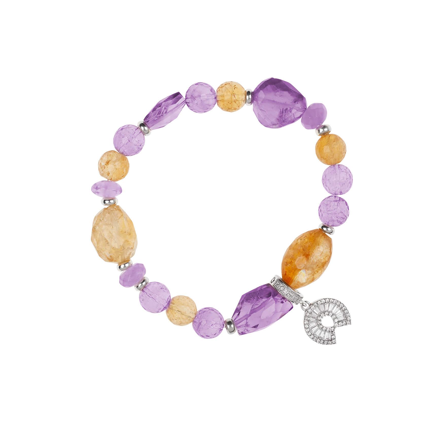 Amethyst and citrine bracelet marybola