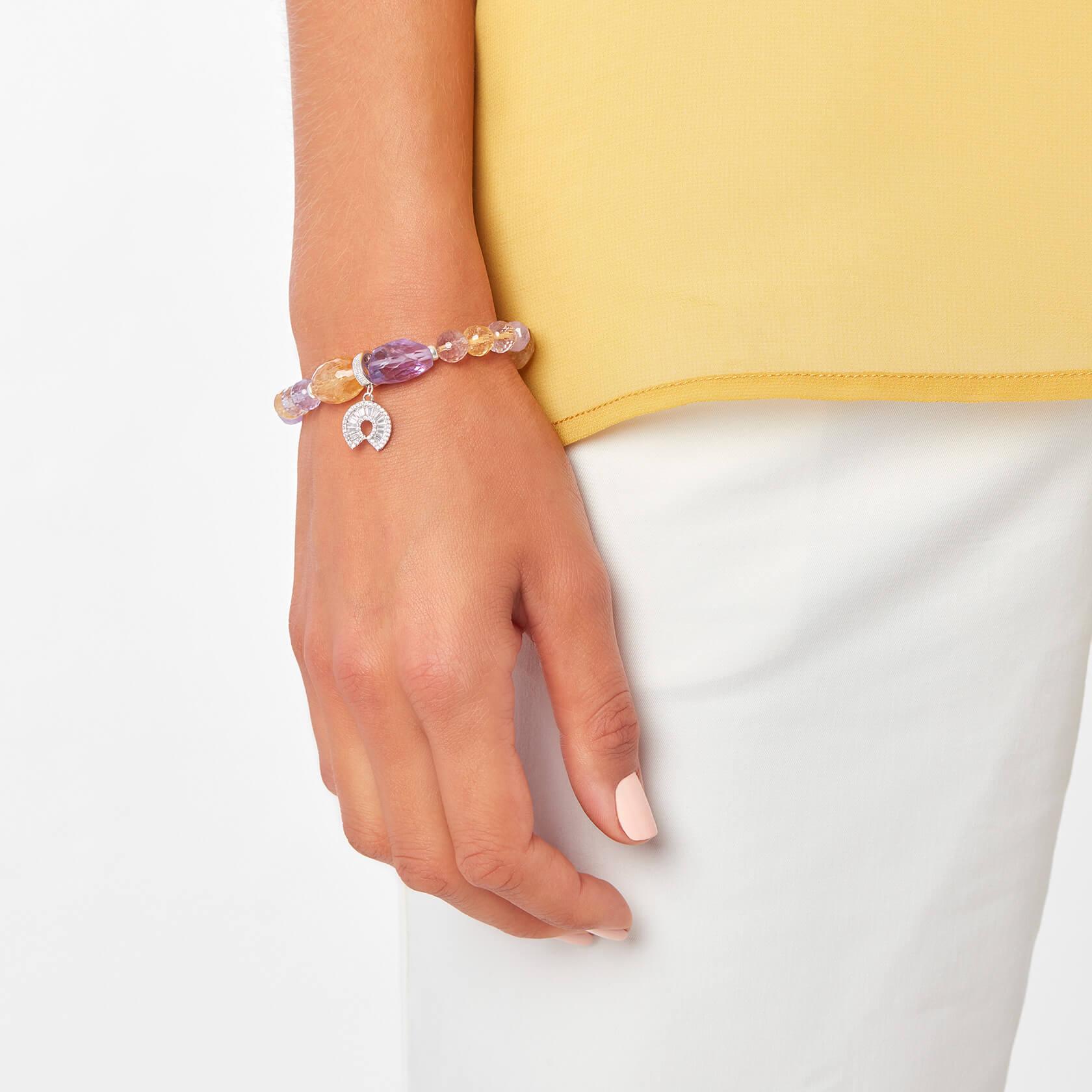 Amethyst and citrine bracelet Sultán