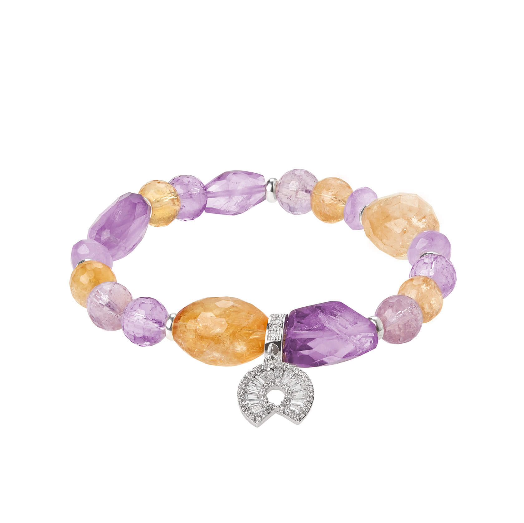 Amethyst and citrine bracelet