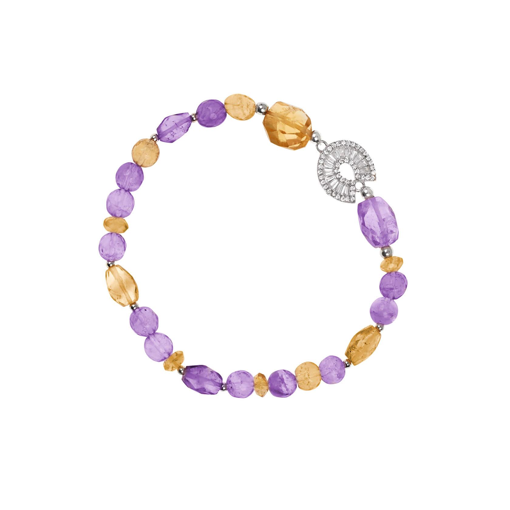 Amethyst, citrine and ametrine bracelet marybola