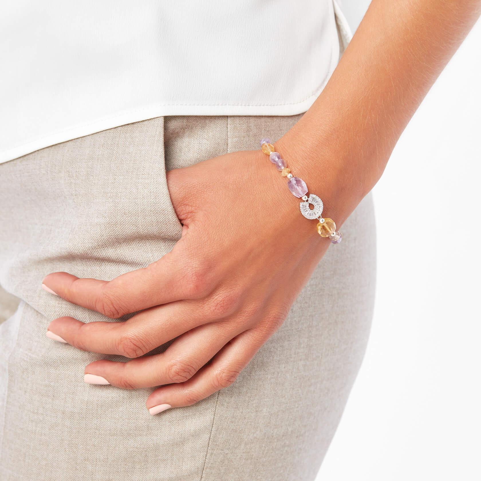 Ametrine and citrine bracelet